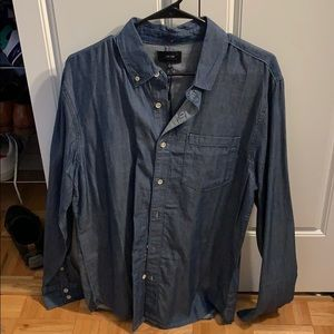 Joe's men's medium denim button down shirt